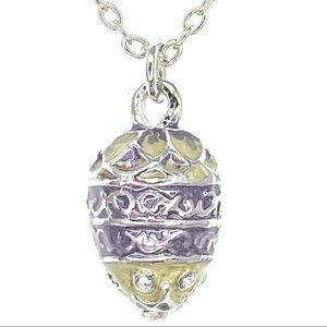 """Faberge inspired pendant egg w/24"""" chain"""